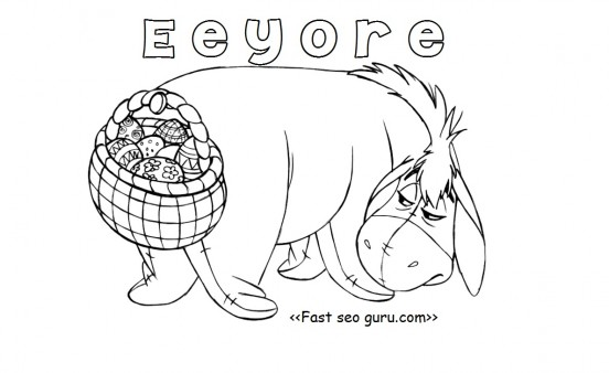 Print out eeyore easter basket coloring pages