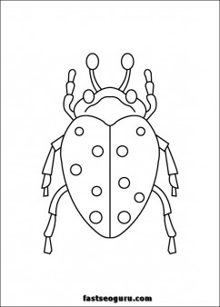 carrion beetles Coloring Pages