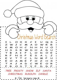 Printables easy christmas word search for kids
