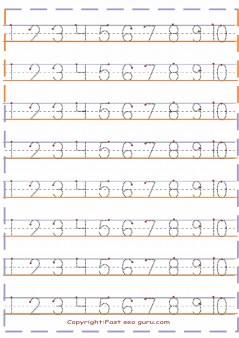1 to10-number tracing worksheets preschool