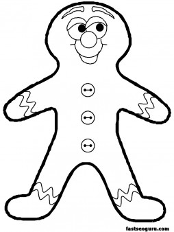 Printable coloring pages of Christmas Gingerbread Men