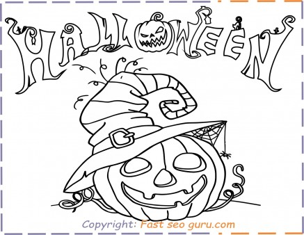 happy halloween pumpkins coloring pages