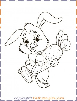easter bunny colouring in pages