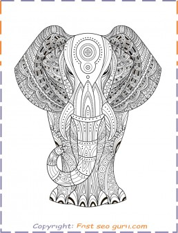 coloring pages for adults elephant  free kids coloring pages printable