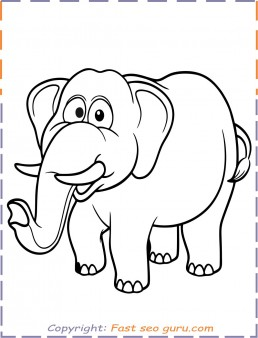 Elephant colouring pages to print