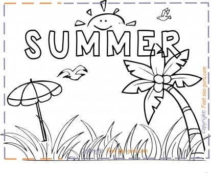 Summer Holiday Coloring Pages For Kids Print Out Free Kids Coloring Pages Printable