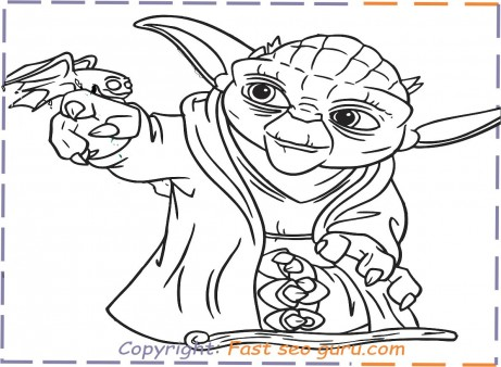 yoda coloring pages to print