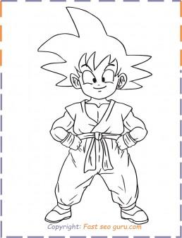 goku coloring pages printable