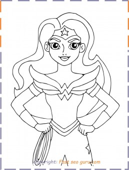 Wonder Woman superhero Coloring Pages