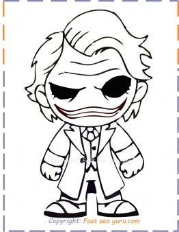 baby joker coloring pages to print out