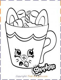 Shopkins Petkins Coloring Sheet Printable