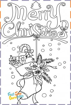 christmas stocking colouring pages to print out for kids