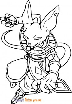 Kids coloring pages beerus dragon ball z