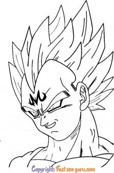 Coloring page Majin Vegeta Dragon Ball Z