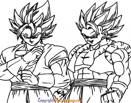 Dragon Ball vegeta super saiyajin 4 coloring pages