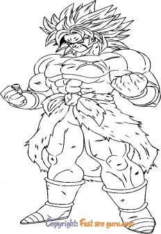 Dragon ball z Broly coloring sheets to print
