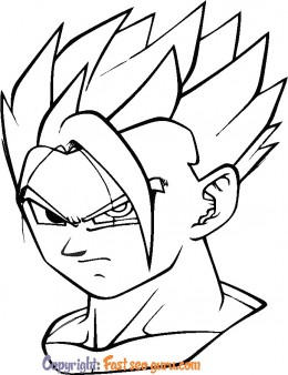 Dragon ball Z son gohan coloring in pages