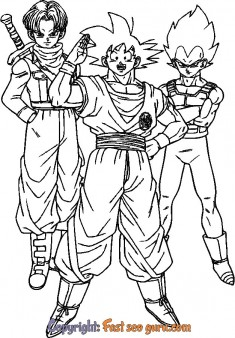 kids coloring pages Trunks Vegeta to print