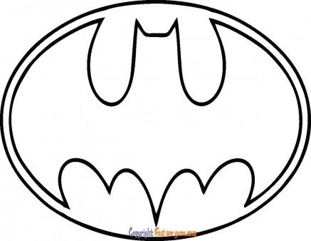 Batman Logo coloring page to printable