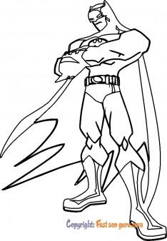 picture to color batman print out