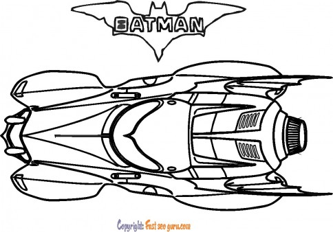 batman car coloring pictures to print