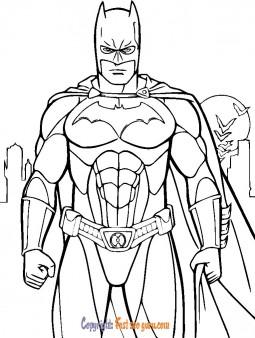 kids coloring sheets batman print