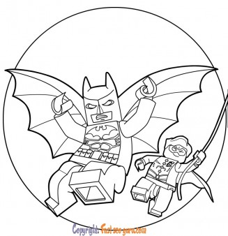 lego batman robin coloring sheet