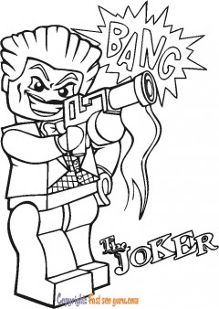 lego movie joker coloring sheets
