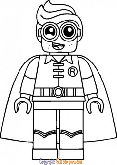lego robin kids coloring pages