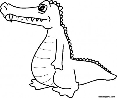 Free Coloring pages Alligator print out  pictures