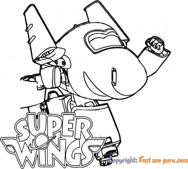 Chase super wings cartoon pages to color