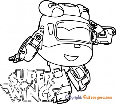 Coloring sheet super wings dizzy