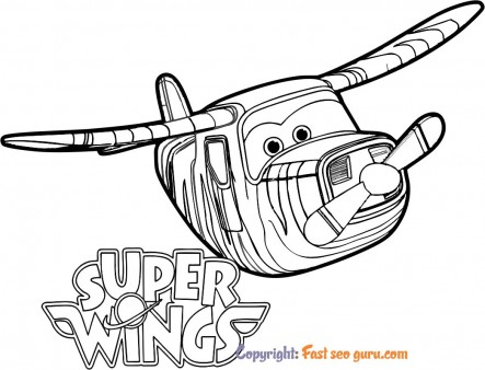 cute coloring pages super wings bello printable