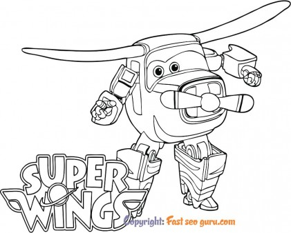 Picture to color Bello super wings