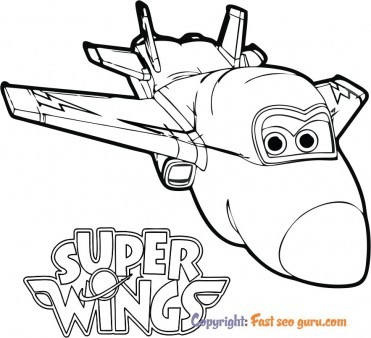 Super Wings Jerome colouring pages for kids