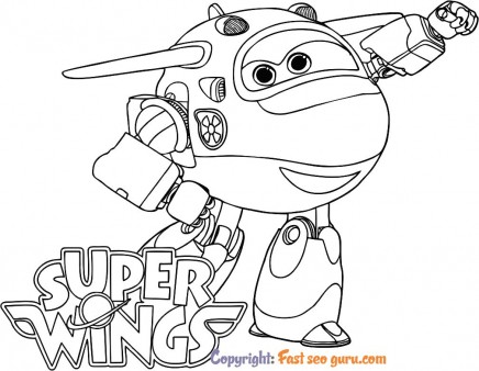 Super Wings Jett pages to color for free