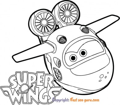 Super Wings Mira coloring books to print