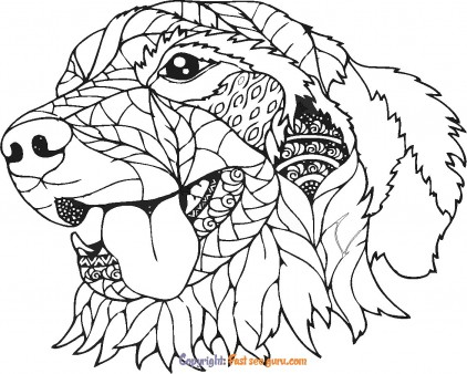 dog coloring pages for adults to print