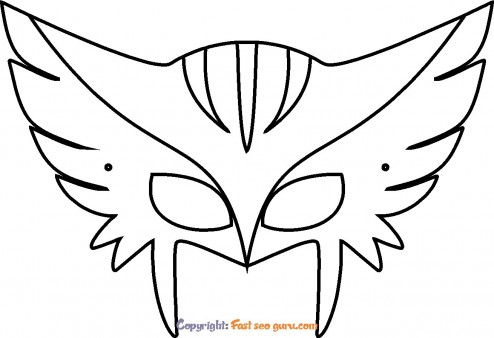 mask wolverine coloring pages to print
