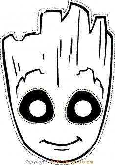 printable groot mask coloring pages