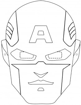 captain america masks coloring page to print out