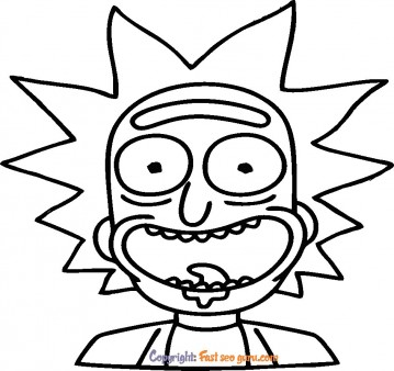 picture to color  rick to print