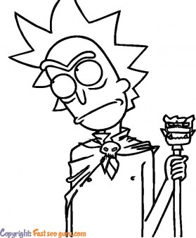 rick and morty coloring pages to printable