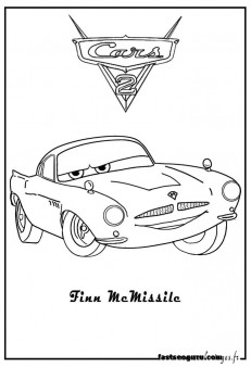 Coloring pages print out Finn Mcmissile car 2