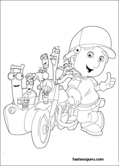Free Handy Manny Motorcycle and tools Coloring Pages