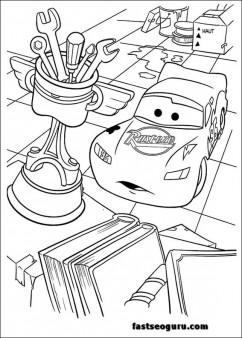 Print out McQueen Disney Characters coloring page