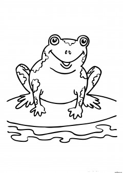 Printabel coloring pages Speckled Frog.