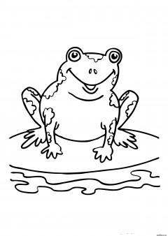 Printabel coloring pages Speckled Frog.