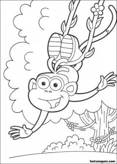 Print out Dora the Explorer Marquez coloring pages