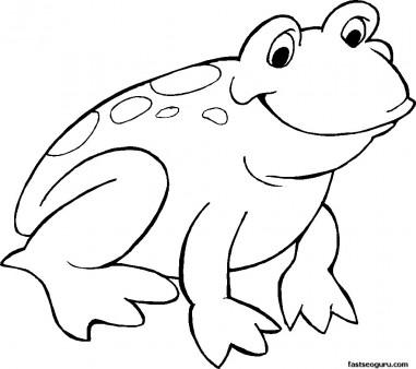 Frog Kids Coloring Page.Printable